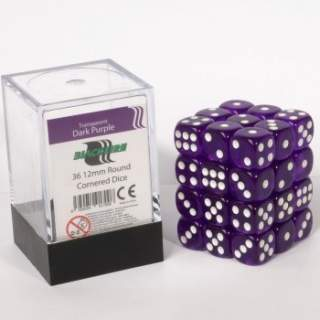 Kostki - K6 - Dark Purple - 36 sztuk