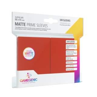 Gamegenic: Matte Prime - Red, 100 sztuk