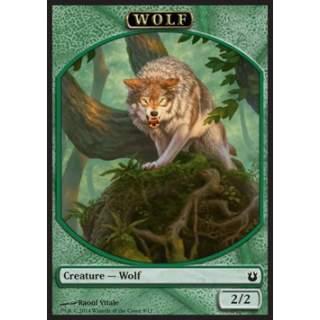 Wolf Token (Green 2/2)