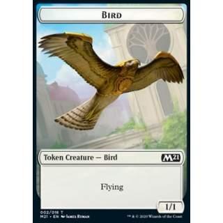Bird Token (W 1/1) // Treasure Token - FOIL