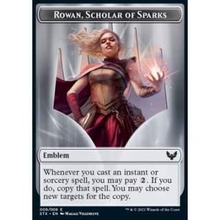 Rowan, Scholar of Sparks Emblem // Elemental Token (UR 4/4) - FOIL