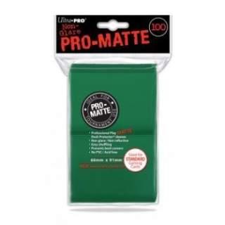 Koszulki Ultra Pro - 100 sztuk - Pro-Matte - Green