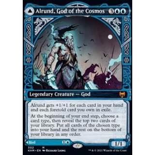 Alrund, God of the Cosmos // Hakka, Whispering Raven - PROMO FOIL