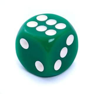 Kostka - K6 matowa - oczka - zielona - 12mm