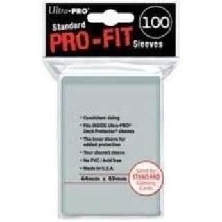 Koszulki Ultra Pro - 100 sztuk - Pro-Fit - Clear