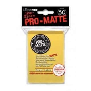 Koszulki Ultra Pro - 50 sztuk - Pro-Matte - Yellow
