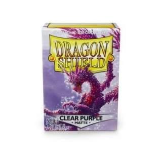 Koszulki Dragon Shield - 100 sztuk - Matte - Clear Purple