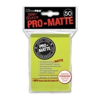 Koszulki Ultra Pro - 50 sztuk - Pro-Matte - Bright Yellow
