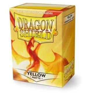 Koszulki Dragon Shield - 100 sztuk - Matte - Yellow