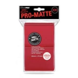 Koszulki Ultra Pro - 100 sztuk - Pro-Matte - Red