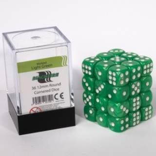 Kostki - K6 - Light Green - 36 sztuk