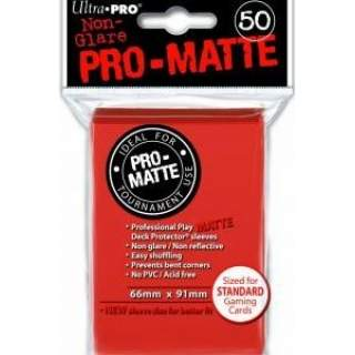 Koszulki Ultra Pro - 50 sztuk - Pro-Matte - Red