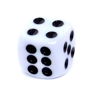 Kostka - K6 matowa - oczka - biała - 12mm