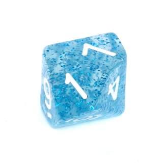 Kostka - K10 brokatowa - cyfry - niebieska