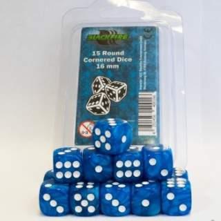 Kostki - K6 - Blue - 15 sztuk
